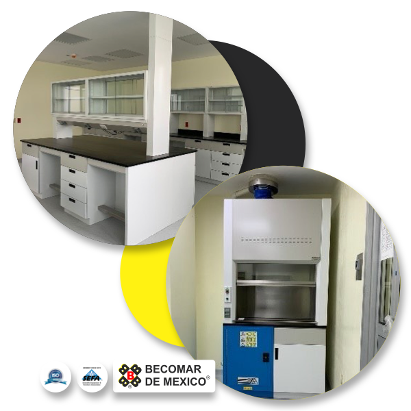Muebles laboratorio becomar