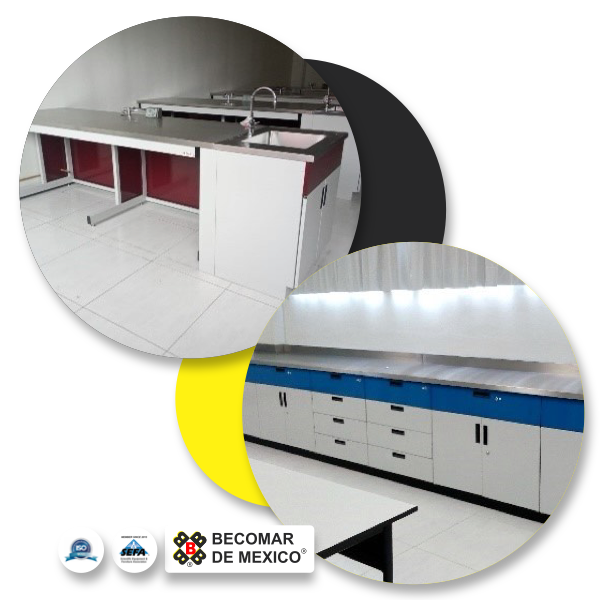 mesas laboratorio becomar