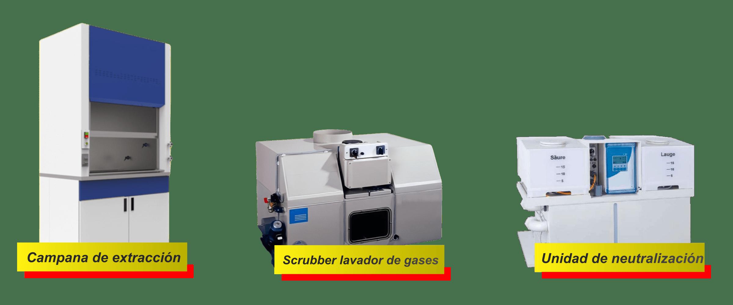 campana de extracción scrubber neutralización